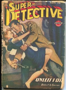 Super-Detective 11/1944-Trojan-waitress attack-hard boiled pulp fiction-FR/G