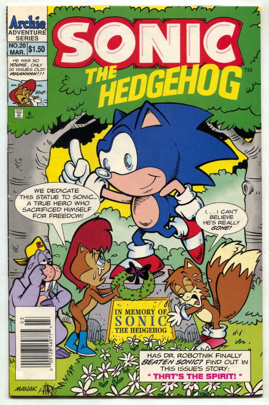Sonic The Hedgehog 20 1995 Archie Comics Sega Vf Hipcomic