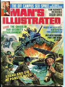Man's Illustrated Magazine September 1968- Nazi tank cover- Sin Spa of Americas