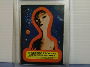1978 Close Encounters of the Third Kind Greetings Sticker Card #1 - Graded EX+