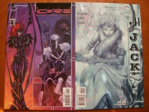 2 Near-Mint Comic: Image WILDCORE #6 (1998) & JACK OF FABLES #11 (Snow Queen)