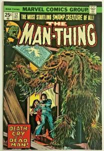 MAN-THING#12 FN/VF 1974 MARVEL BRONZE AGE COMICS