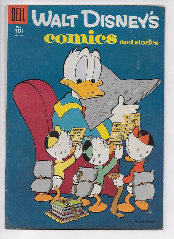 Walt Disney's Comics and Stories #176 - Golden Age Classic (Dell, 1955) - FN