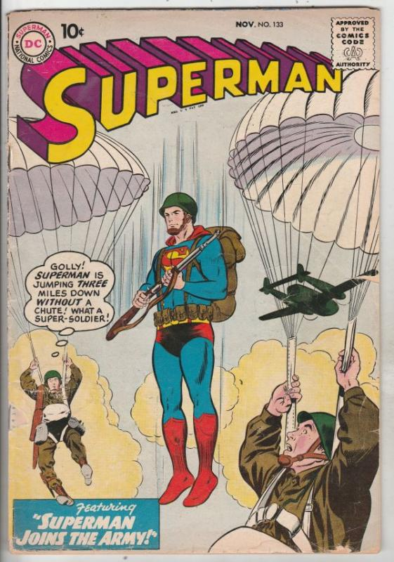 Superman #133 (Nov-59) VG+ Affordable-Grade Superman, Jimmy Olsen,Lois Lane, ...