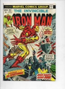 IRON MAN #65, FN+, Tony Stark, Thor, George Tuska, 1968, more IM in store