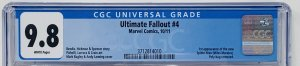 Ultimate Fallout #4 CGC 9.8 Marvel 2011. First Printing First Miles Morales App