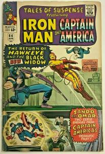 TALES OF SUSPENSE#64 GD/VG 1965 MARVEL SILVER AGE COMICS