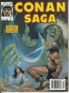 Conan Saga #  Representing 2 stories from Marvel's Savage Sword of Conan .