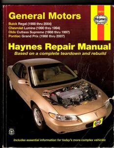 General Motors Haynes Repair Manual 38010 Buick Chevrolet Olds Pontiac Prix JL35