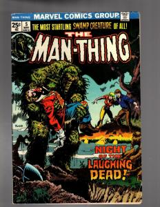 MAN THING (1974) 5 GOOD PLUS May 1974  (Coupon Clipped)