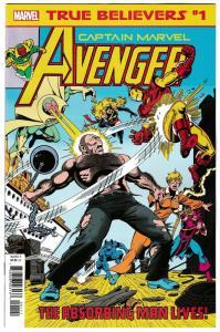 True Believers Captain Marvel Avenger #1 Rep Avengers #183 (2019) NM