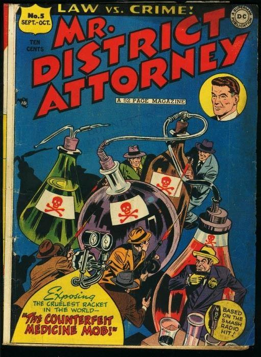 MR. DISTRICT ATTORNEY #5-DC PRE-CODE CRIME COMIC VG
