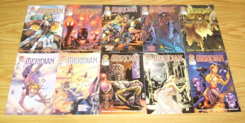 Meridian #1-44 VF/NM complete series + customer preview copy - barbara kesel