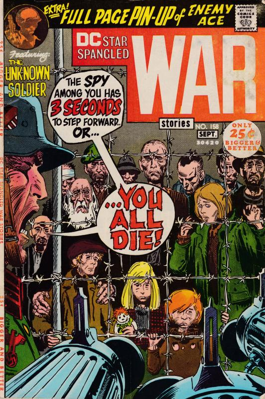 Star Spangled War  Nr.158  AUG.-SEP..1971  The Unkown Soldier  VF Clean
