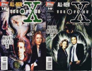 X FILES (1995 TOPPS) 18-19  Night Lights