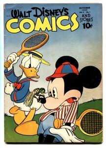 Walt Disney's Comics And Stories #49-1944-DONALD DUCK-MICKEY MOUSE-tennis cvr