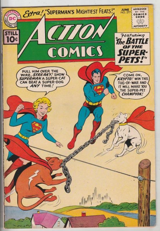 Action Comics #277 (Jun-61) VF High-Grade Superman, Supergirl, Superboy