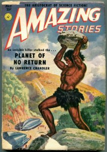 Amazing Stories Pulp May 1951- Planet of No Return- Rocket cover G+