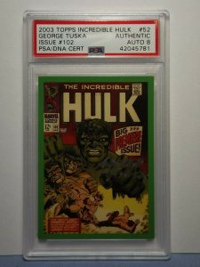 2003 Topps Incredible Hulk Card #52 Issue #102 GEORGE TUSKA AUTOGRAPH PSA/DNA