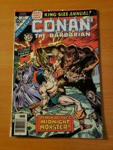 King Size Conan The Barbarian #2 ~ FINE - VERY FINE VF ~ 1976 Marvel Comics