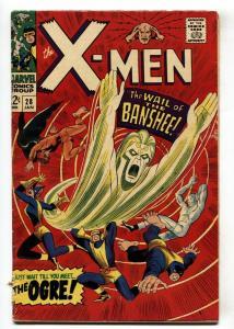 X-MEN-#28 comic book 1966 1st BANSHEE MARVEL VG