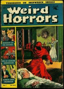 Weird Horrors #1 1952- Vampire- Werewolf- George Tuska VG/F