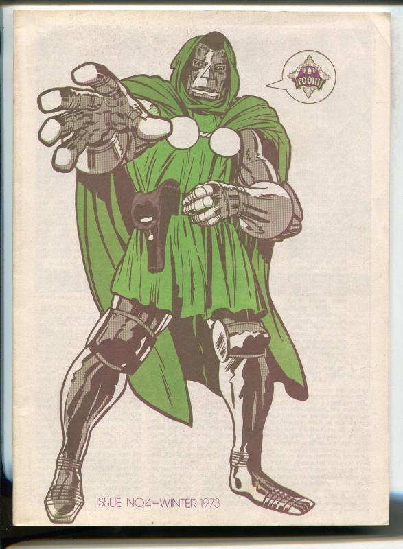 FOOM #4 1973-MARVEL-STERANKO PHOTO-DR DOOM-1970'S SPIDER-MAN MOVIE-RARE-fn