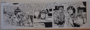 GEORGE WUNDER original strip art, TERRY, 7x23, 1972, 3 pages, Signed / dated