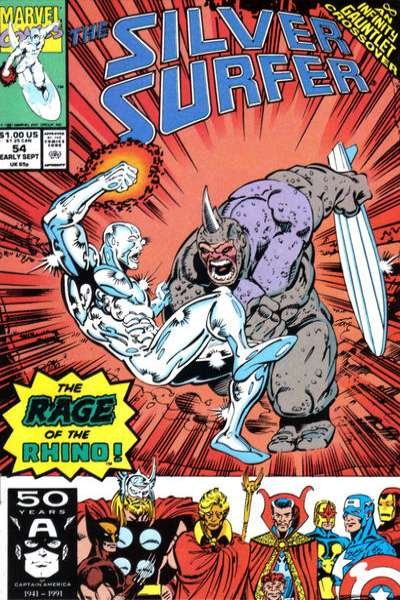 Silver Surfer (1987 series) #54, NM + (Stock photo)