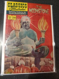 CLASSIC ILLUSTRATED #30 THE MOONSTONE GOLDEN AGE FINE+