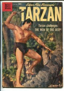 TARZAN #109-1958-DELL-GORDON SCOTT COVER- BURROUGHS- MARSH- MANNING-good/vg