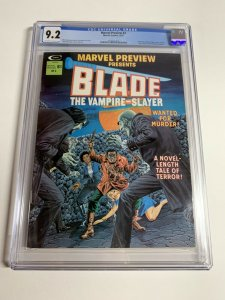 Marvel Preview 3 Cgc 9.2 Ow/White Pgs Marvel Early Blade Appearance Bronze Age