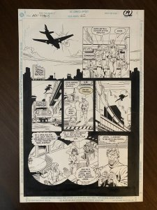 New Titans #62 Page 19 Original Art 1989 Tom Grummett / Al Vey