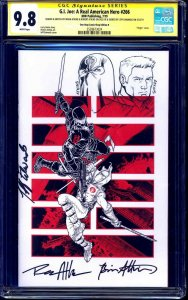 G.I. Joe #266 VARIANT CGC SS 9.8 signed ORIGINAL Cobra Commander & Duke SKETCH