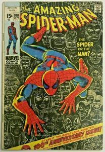 AMAZING SPIDER-MAN#100 GD/VG 1971  MARVEL BRONZE AGE COMICS