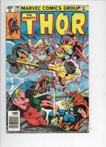THOR #296 VF+ God of Thunder Valhalla 1966 1980, more Thor in store, UPC