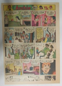 Archie Sunday by Bob Montana from 12/6/1953 Very Early Tabloid Size Color Page!