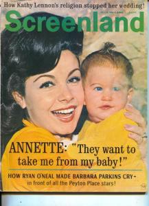 Screenland-Annette Funicello-Paul Newman-Jule Christie-Sept-1966