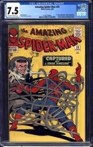 AMAZING SPIDER-MAN #25, CGC VF-: 7.5