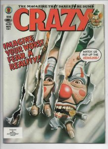CRAZY #80 Magazine, VF, Obnoxio the Clown, Howling, 1973 1981, more in store