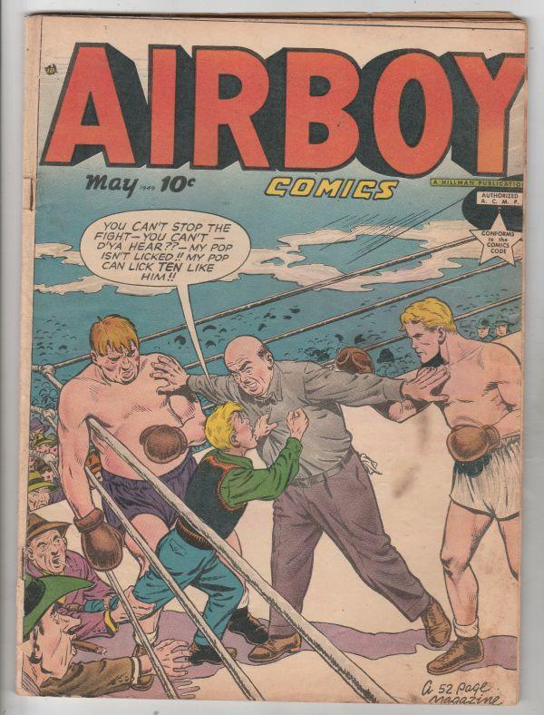 Air Boy Comics #4 (May-49) FN- Mid-Grade Air Boy