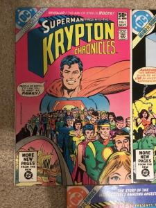 DC Superman Presents The Krypton Chronicles 1-3 Complete Set * 1981 *
