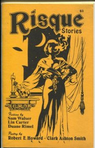 Risque Stories #1 1984-1st issue-spicy pulps history-Will Murray-Lin Carter-VG