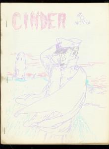 CINDER-RARE SCI FI & PULP FANZINE #6 1961-JERRY BAILS- FN