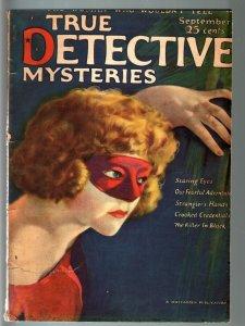 TRUE DETECTIVE PULP #6-SEPT 1924-MATA HARI-MAFIA-GHOSTS-CRIME-HORROR--TERROR G