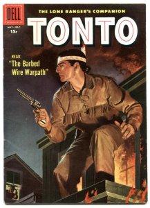 Tonto #27 1957- Dell Western- Lone Ranger's companion VF