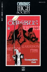 Cerebus High Society #17 VF; Aardvark-Vanaheim   save on shipping - details insi