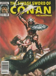 The Savage Sword of Conan the Barbarian #158 - Magazine
