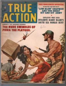 True Action 2/1960-Oriental babe-war-crime-cheesecake-pulp thrills-G/VG