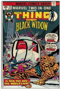 MARVEL TWO IN ONE 10 F-VF July 1975 Thing/ Black Widow